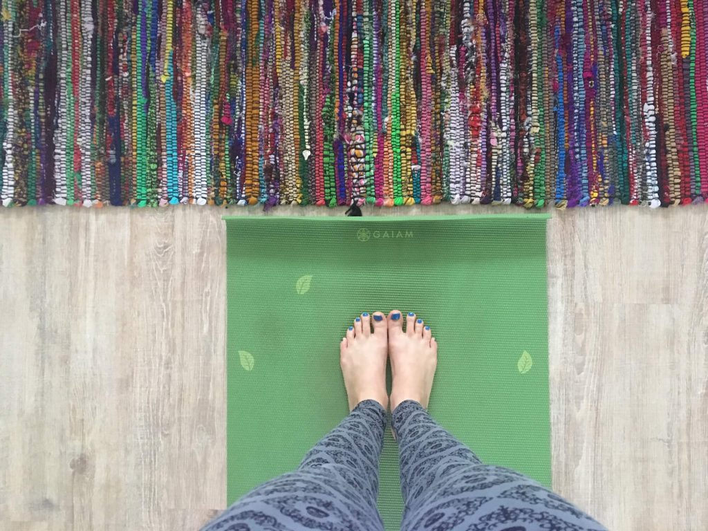 Yoga Toes On The Mat