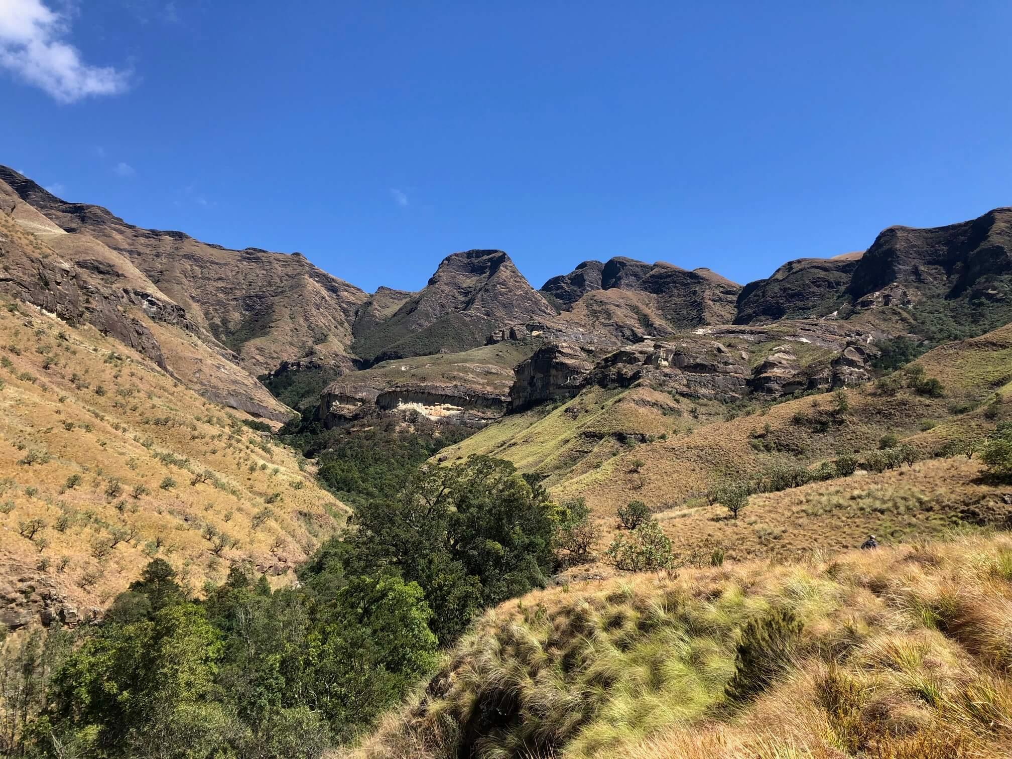 Above Devils Hoek Drakensberg