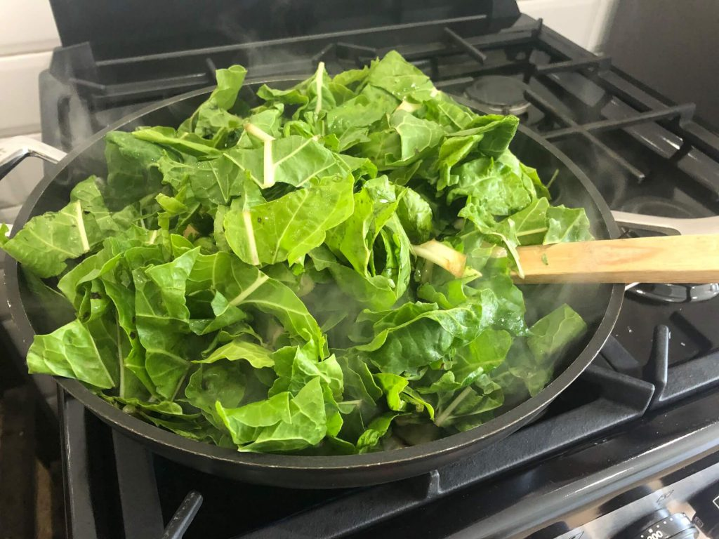 Spinach for the Greek spinach and feta pies